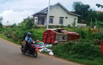 Lokasi tempat pembuangan sampah di Kota Puruk Cahu.