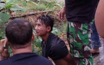 Pelaku Curamor berhasil di tangkap Anggota TNI-AD saat beraksi di Asrama Kodim 1011 KLK Jalan Kalimatan Selasa(13/6/2017).