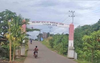 Batas Desa Tahujan Ontu dengan Kelurahan Beriwit versi masyarakat Desa Tahujan Ontu.