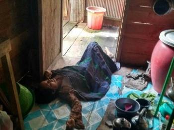 Mardiana ditemukan tewas di dapur rumahnya, Rabu (14/6/2017)