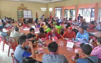 Suasana technical meeting membahas Festival Budaya Mihing Manasa di Sanggar Budaya Manggatang Tarung, Kota Kuala Kurun, Kabupaten Gunung Mas, Kamis (15/6/2017) sore.