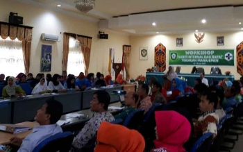 Workshop Audit Internal Puskesmas di Dinas Kesehatan Kotim.