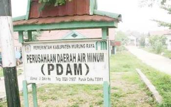Kantor PDAM Kabupaten Murung Raya yang berada di Jalan Ahmad Yani, Kota Puruk Cahu.