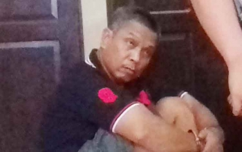 Tersangka kasus pencurian Rusnadi alias Nadi