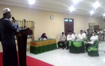 Kejaksaan Negeri Kapuas Bukber Bersama Karywan dan Karyawati,Purnaja dan FJKK di Auala Kerjaksaan Jumat(16/6/2017).