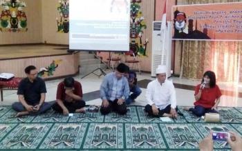 KPU Kota Palangka Raya menggelar sosialisasi UU pemilihan wali kota dan wakil wali kota, Jumat (16/6/2017) sore