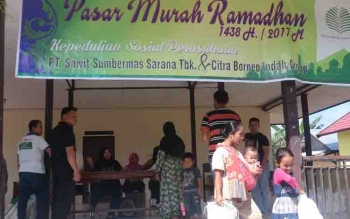 Pasar Murah yang digelar PT SSMS Tbk dan CBI Group.
