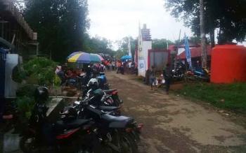 Lokasi parkir di salah satu tempat wisata di Kota Puruk Cahu, Kabupaten Murung Raya.