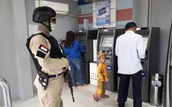 Tim CRT Polres Barsel melakukan Patroli dan monitoring di Mesin ATM