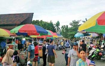 Kondisi Pasar eks Mentaya Theater saat ini