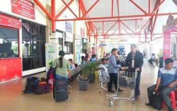 Ramai. Beginilah aktivitas di Bandara Tjilik Riwut Palangka Raya menjelang Idul Fitri