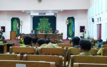 Rapat paripurna DPRD Pulang Pisau dalam rangka persetujuan DPRD terhada raperda yang ajukan Pemkab Pulang Pisau, Selasa (20/6/2017)