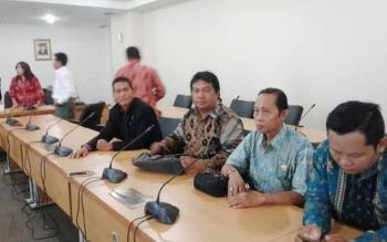 Jajaran Komisi I DPRD kabupaten Kapuas ketika kunker ke pihak kementrian Agraria dan tata Ruang baru-baru tadi di Jakarta.