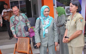 Kepala BPOM Kalteng Trikoranti seusai melakukan pemantauan dengan Tim Satgas Pangan,kemarin