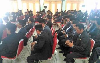 Para pejabat yang akan dilantik oleh Bupati Gunung Mas Arton S Dohong