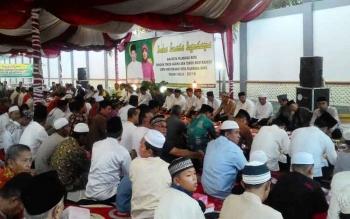 Suasana buka puasa bersama di rumah jabatan Wali Kota Palangka Raya, Kamis (22/6/2017).