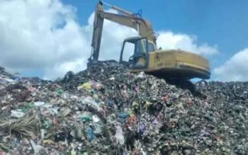 Tumpukan sampah di TPA Palangka Raya. Titik-titik pantau adipura seperti ini sedang fokus dikelola oleh Pemko Palangka Raya