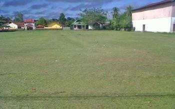Lapangan Gagah Lurus Kasongan Kabupaten Katingan yang akan digunakan untuk pelaksanaan Salat Idul Fitri.