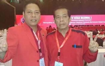 Ketua DPRD Bartim Broelalano bersama Ketua DPRD Kalteng R Atu Narang saat mengikuti Rakernas di Jakarta, beberapa waktu lalu.