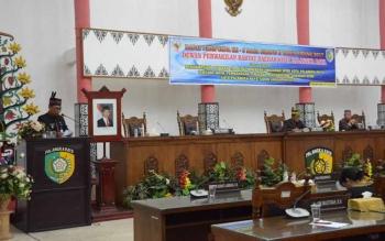Rapat Paripurna DPRD Kota Palangka Raya, Jumat (7/7/2017).