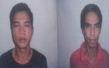 Tersangka kasus pencurian Wahyu Ramadhani alias Wahyu dan Ramadhani alias Rama.