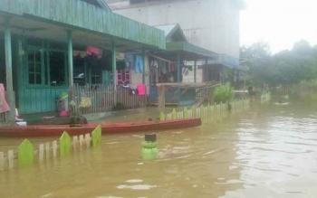 Intensitas Hujan Tinggi, Sejumlah Desa di Lamandau Mulai Tergenang Air