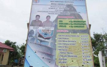 APBDes Danau Usung Mencapai Rp1,3 Miliar