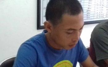 Rusdiono Susilo alias Rusdi (29) tersangka kasus sabu.