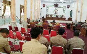 Pelaksanaan rapar paripurna anggota DPRD Kabupaten Sukamara.
