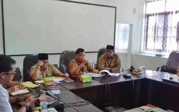 Silaturahmi Pemerintah Daerah dengan wartawan di Kotim.