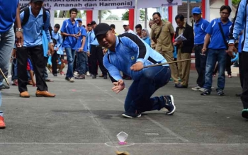 Balogo jadi salah satu olahraga tradisional yang dilombakan pada Festival Budaya Iya Mulik Bengkang Turan 2017.