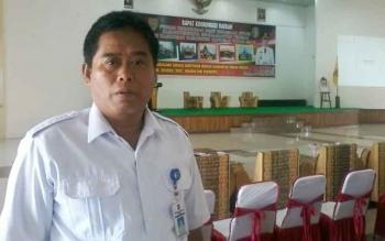 Sekretaris Kesbang Pol Kabupaten Katingan, Bambang Widianto di Gedung Selawah tempat acara rakorda FKUB se Kalteng besok