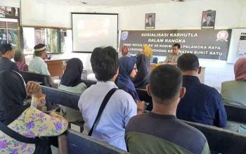 Kodim 1016 Palangka Raya Bersama BPBD Sosialisasikan Larangan Karhutla