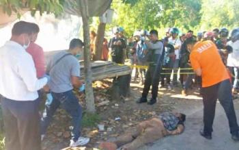 Temuan mayat perempuan di Jalan RT A Milono Km 4,5 Palangka Raya.