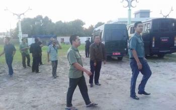 Suasana di Pengadilan Negeri Sampit pascatahanan narkoba kabur.