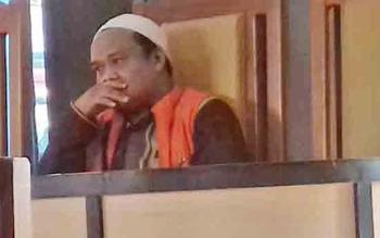 Fathurahman alias Fatur terdakwa sabu yang melarikan diri saat menjalani sidang.