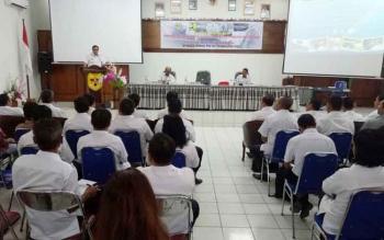 Wakil Bupati Gunung Mas, Rony Karlos membuka Sosialisasi Program Penyediaan Air Minum dan Sanitasi Berbasis Masyarakat (PAMSIMAS), Rabu (2/7/2017)