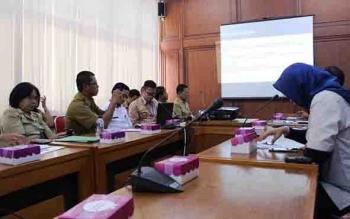 Rakor TPID Kalteg di ruang rapat Asisten Setda Kalteng, Rabu (2/8/2017).