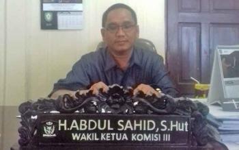 Anggota Komisi III DPRD Kotim Abdul Sahid.