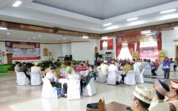 Suasana Syukuran Hari Jadi Ke-15 Kabupaten Lamandau, di GPU Lantang Torang, Kamis (3/8/2017)