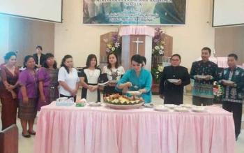 Peringatan Hari Perempuan GKE di Gereja Sion, Kuala Kurun, Kabupaten Gunung Mas.