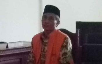Terdakwa kasus penggelapan Joko Hadiwijaya.