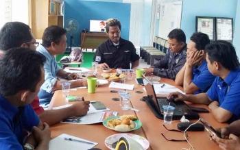 Rapat evaluasi dan rencana keberangkatan serta simulasi kegiatan UKW yang dilaksanakan PWI Barito Utara