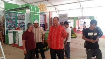 Wakil Wali Kota Palangka Raya Mofit Saptono Subagio saat meninjau persiapan Palangka Fair, Sabtu (5/8/2017).