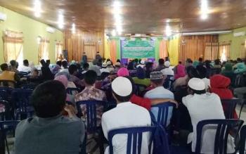 Suasana ketika sidang isbat massal yang digelar Pemkab Sukamara dengan Pengadilan Agama Pangkalan Bun.