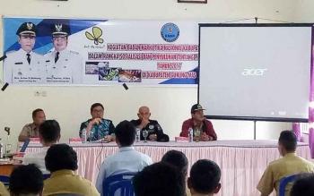 Sosialisasi bahaya narkoba di aula kantor Kecamatan Rungan, Selasa (8/8/2017).