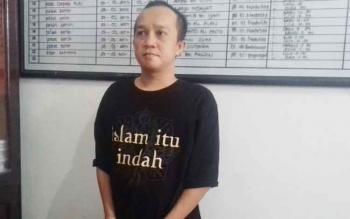 Dedy Ari Sanjaya alias Dedy tersangka kasus sabu.