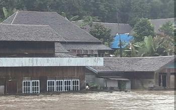 Kondisi Banjir di wilayah Kecamatan Antang Kalang baru-baru ini