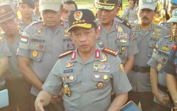 Kapolri Jenderal Tito Karnavian saat berkunjung ke Polda Kalteng di Palangka Raya, Rabu (9/8/2017).