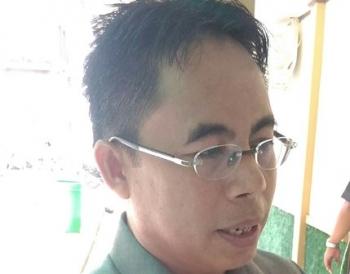 Juru Bicara Fraksi Golkar di DPRD Kabupaten Gunung Mas Herbert Y Asin.